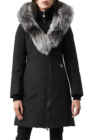 Mackage Women's Fur-Trim Hooded Down Jacket - - Size Medium