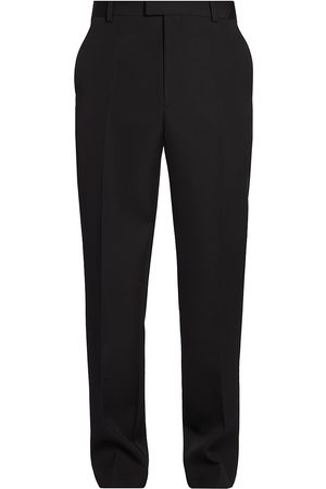 Bottega Veneta Men's Sartorial Wool Grain De Poudre Trousers - - Size 48 (32)