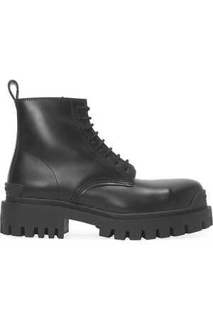 Balenciaga Men's Strike Leather Combat Boots - - Size 43 (10)