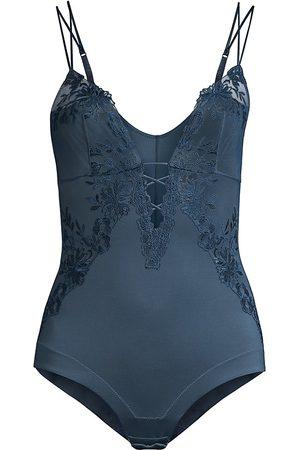 La Perla Women's Zephyr Lace Silk Bodysuit - - Size 38B