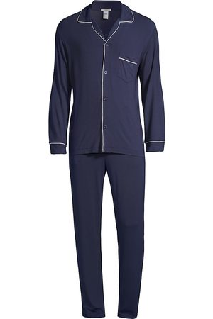 Eberjey Men's William 2-Piece Piping Pajama Set - - Size Small