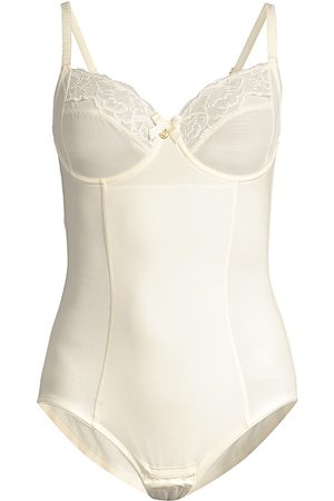Chantelle Women's Lace-Trim Corset Bodysuit - - Size 34 E