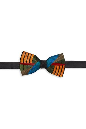 Brackish Men's Wayfair Grosgrain, Pheasant & Peacock Feather Bow Tie