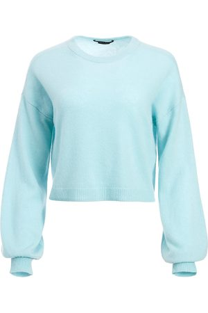 ALICE+OLIVIA Women's Ansley Puff-Sleeve Crop Sweater - - Size Small