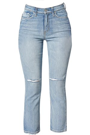 Hudson Women's Holly High-Rise Straight Cropped Jeans - - Size 33 (14)