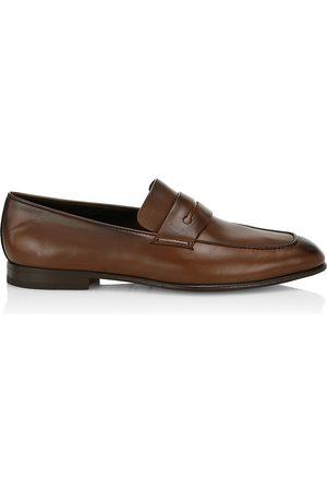 Ermenegildo Zegna Men's L'Asola Leather Loafers - - Size 10.5 UK (11.5 US) EE