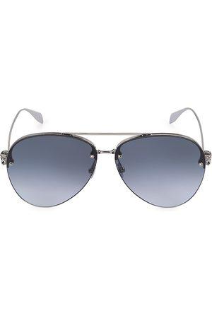 Alexander McQueen Men's 63MM Aviator Sunglasses