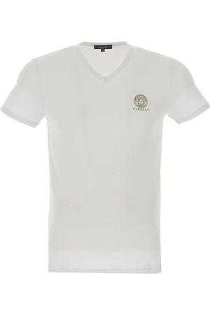 VERSACE Men's V-Neck Logo T-Shirt - - Size 5 (Medium)