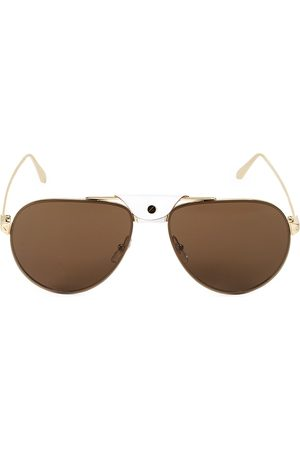Cartier Men's 62MM Round Metal Sunglasses