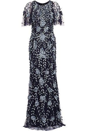 THEIA Women's Petal Applique Gown - - Size 16