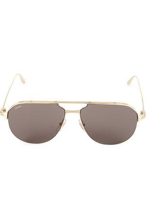 Cartier Men's 60MM Metal Aviator Sunglasses