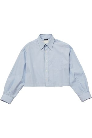 R13 Women's Oversized Cropped Button Down - - Size Large