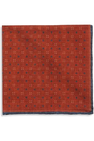 Brunello Cucinelli Men's Geo Dot Silk Pocket Square