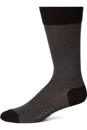 Marcoliani Men's Cotton-Blend Dress Socks - Iris