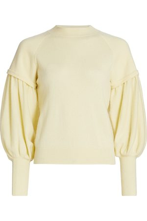 JONATHAN SIMKHAI Women's Mackenzie Puff-Sleeve Cashmere Sweater - - Size Medium