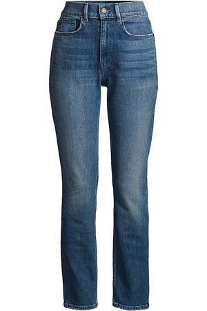 Lafayette 148 New York Women's Reeve High-Rise Straight Ankle Jeans - - Size 31 (10)