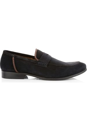 ELEVENTY Men's Suede Penny Loafers - - Size 42 (9)