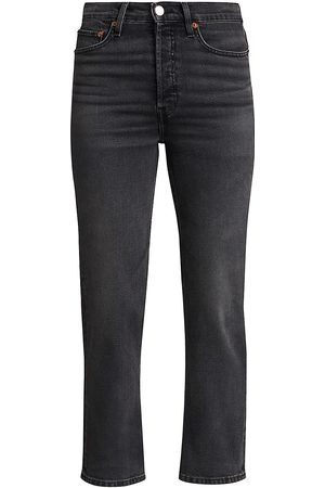 RE/DONE Women's 70s Ultra High-Rise Straight Jeans - - Size 28 (6)