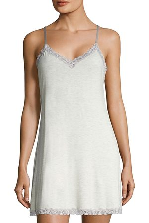 Natori Women's Feather Essential Lace Trimmed Chemise - - Size Large
