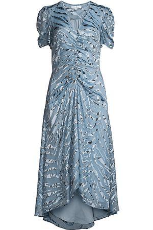 Parker Women's Shelley Illusion Tiger-Stripe Stretch Silk Dress - - Size 00