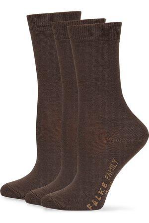 Falke Women's Family Cotton Socks - Dark - Size 8