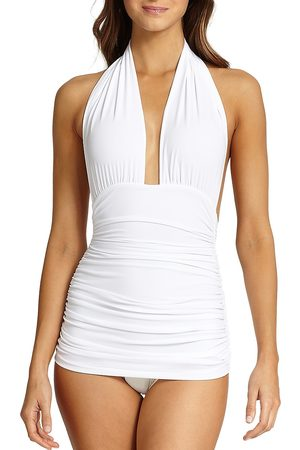 Norma Kamali Women's Halter Bill One-Piece Swimsuit - - Size Small