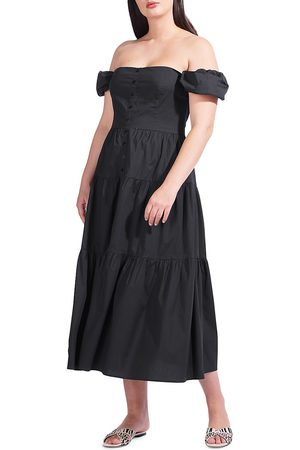 Staud Women's Elio Puff-Sleeve Prairie Dress - - Size 10