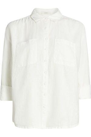 Joie Women T-shirts - Women's Lidelle Linen Shirt - Porcelain - Size Small
