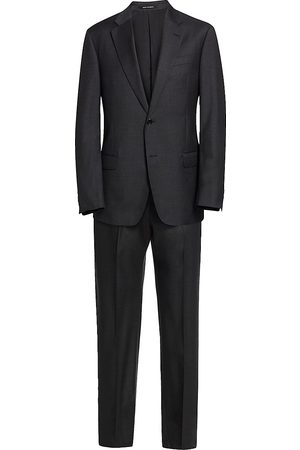 Emporio Armani Men's G Line Charcoal Solid Super 130s Suit - - Size 46 (36) R