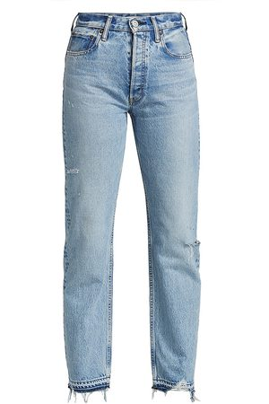 Moussy Women's Brookline Mid-Rise Wide Straight Jeans - - Size 31 (10)
