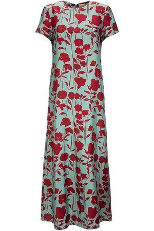 La DoubleJ Women's Edition 22 Floral Twill Silk Swing Dress - - Size Small