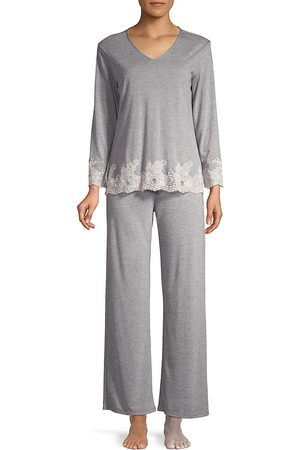 Natori Women's Luxe Shangri La Two-Piece Pajama Set - - Size XL