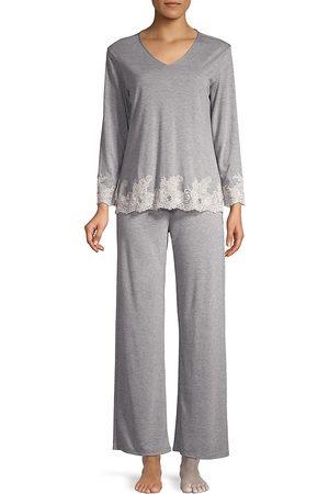 Natori Women's Luxe Shangri La Two-Piece Pajama Set - - Size XL