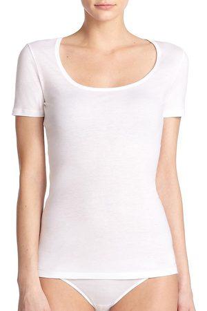 Hanro Women's Ultralight Short-Sleeve Top - - Size Medium