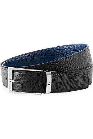 Mont Blanc Men's Trapeze Adjustable & Reversible Leather Belt