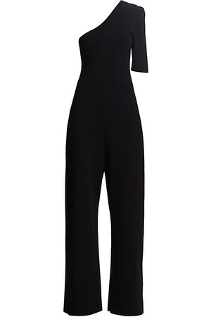 Stella McCartney Women's One-Shoulder Crepe Jumpsuit - - Size 42 (8)