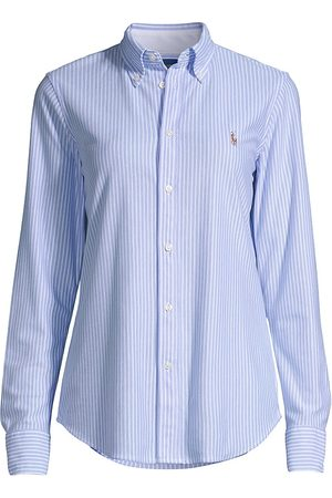 Ralph Lauren Women's Classic Striped Button-Front Shirt - - Size XS