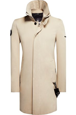 Trench London Men Trench Coats - Men's The Knight Covered Placket Zip-Front Coat - Stone - Size Medium