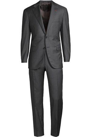 ISAIA Men's New Sanita Basic Wool Suit - - Size 56 (46) R