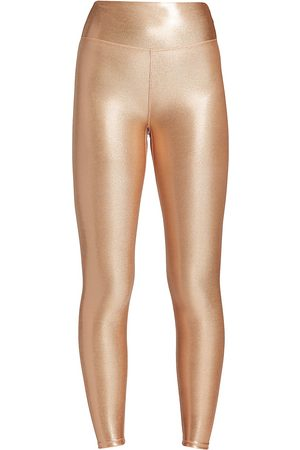 Heroine Women's Marvel High-Waist Metallic Leggings - - Size Medium