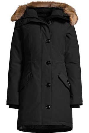 Canada Goose Women's Rossclair Fur Trim Down Parka - - Size Small