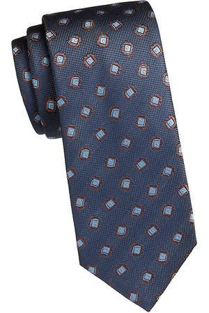 BRIONI Men's Medallion Silk Tie