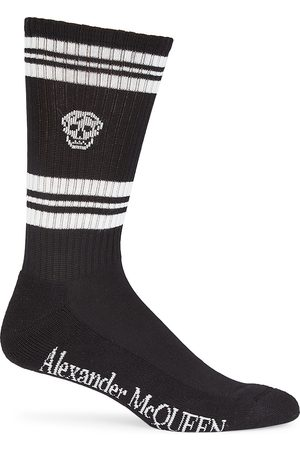 Alexander McQueen Men's Skull Striped Socks - - Size Large