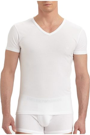 Emporio Armani Men's Stretch Cotton V-Neck T-Shirt - - Size XL