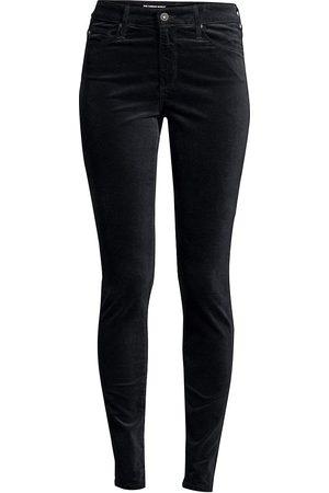 AG Jeans Women's Farrah High-Rise Velvet Skinny Pants - - Size 24 (0)