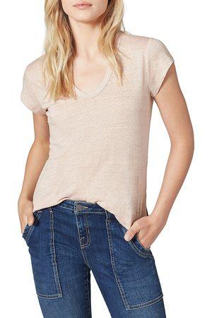 Joie Women Sports T-shirts - Women's Evalina Linen T-Shirt - Sky - Size XXS