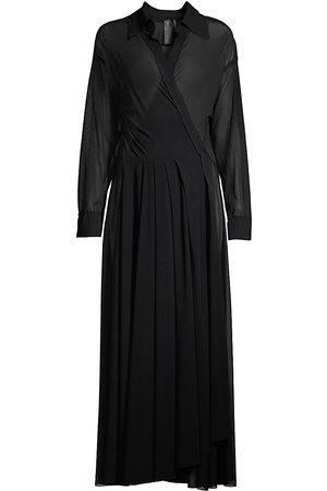 Norma Kamali Women's Shirt Flared Dress - - Size Medium