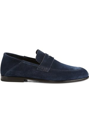 HARRYS OF LONDON Men's Edward Soft Suede Penny Loafers - - Size 13