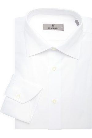 CANALI Men's Solid Dress Shirt - - Size 15.5