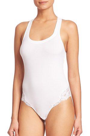 La Perla Women's Souple Lace-Trimmed Bodysuit - - Size Medium